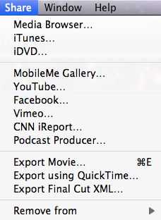 Export Movie and Burn iMovie 11 Video to DVD