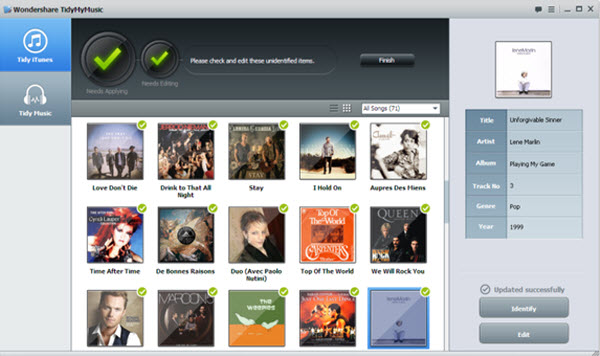 fix mislabeled songs, find album arts, fix mp3 tag information - Main Screenshot
